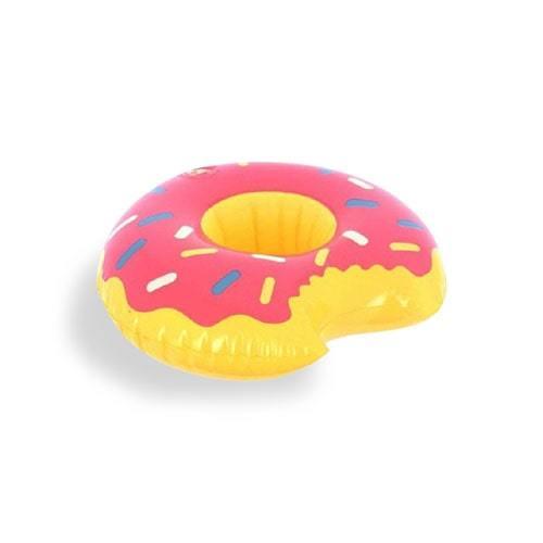 Bouée donuts rose porte gobelet