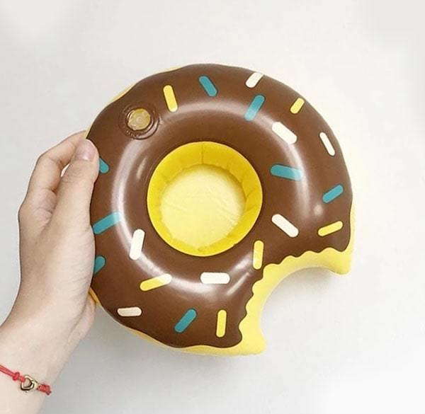 Mini Bouée Gonflable Donuts Chocolat
