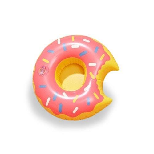 Bouée porte verre donuts rose framboise