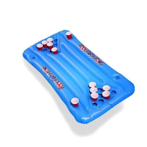 Beer Pong gonflable piscine