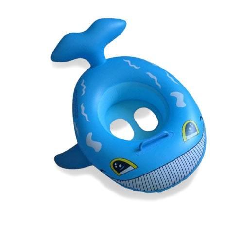 Bouée bébé gonflable baleine bleu