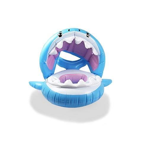 Bouée enfant mâchoire de requin bleu