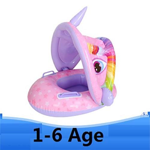 Bouée enfant parasoleil licorne