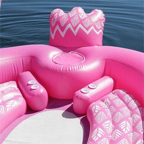 Bouée géante gonflable flamant rose plage
