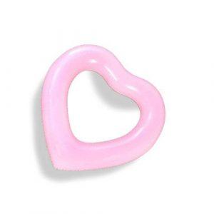 Bouée gonflable cœur rose