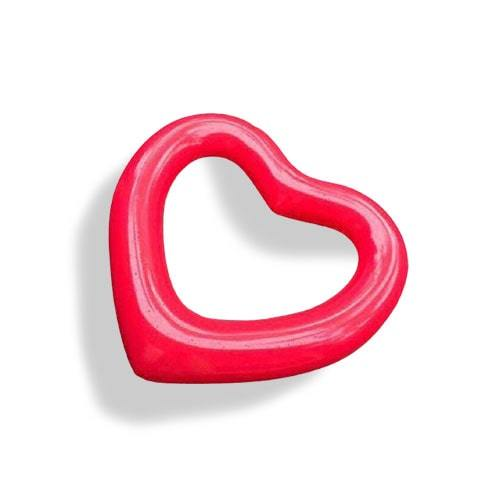 Bouée gonflable cœur rouge