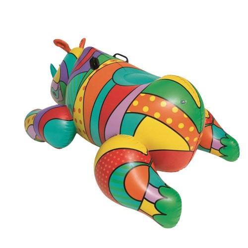 Bouée gonflable rhinocéros