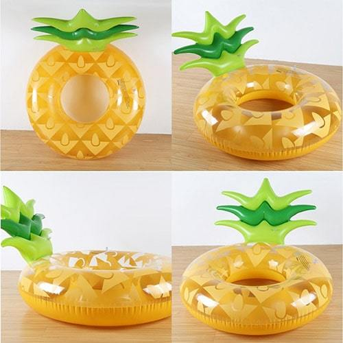 Bouée gonflable ronde ananas