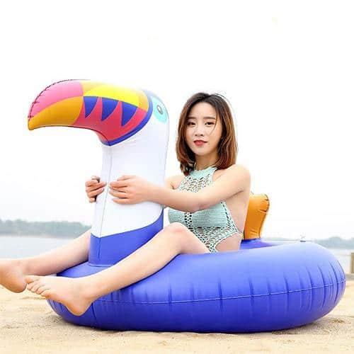 Bouée gonflable ronde toucan