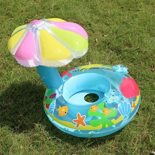 Bouée parasol bébé piscine