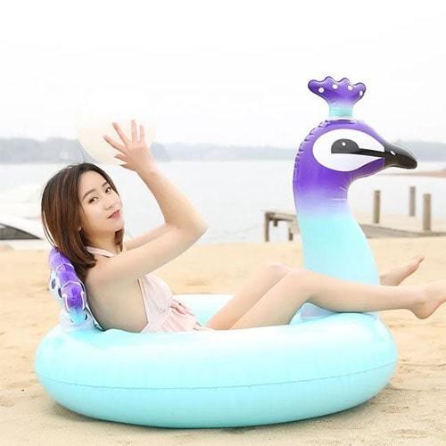 Bouée piscine ronde oiseau bleu