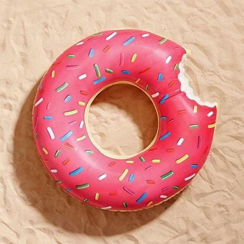 Bouée ronde donuts famboise