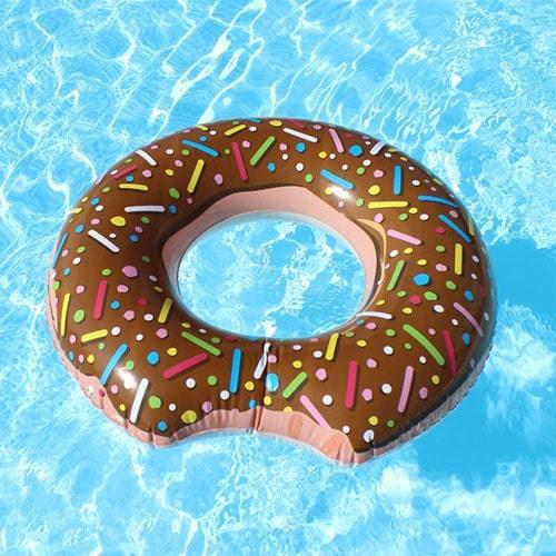 Bouée ronde donuts marron