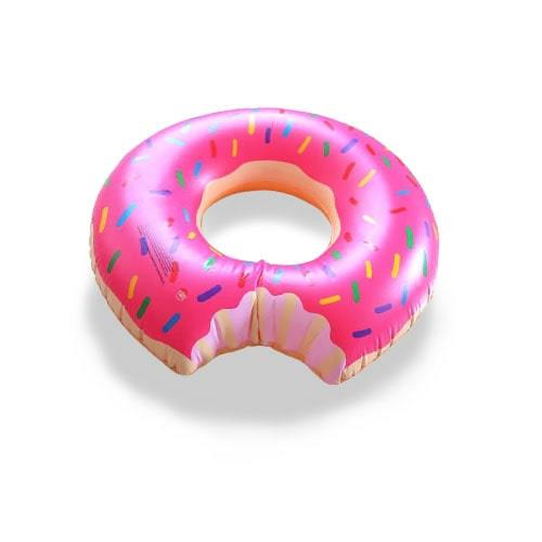 Bouée ronde donuts rose