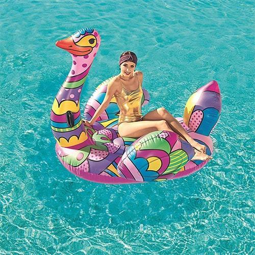 Bouée XL autruche piscine