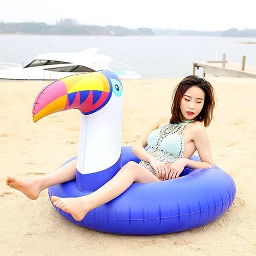 Bouée XL toucan gonflable