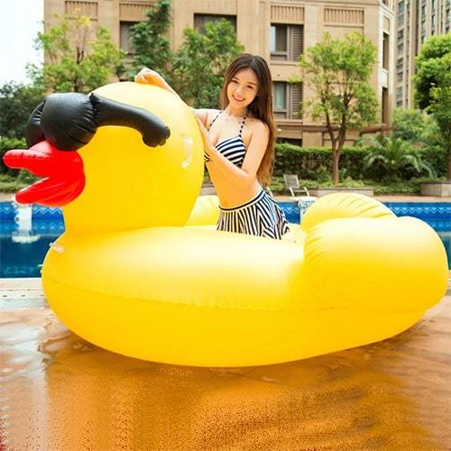 Canard gonflable XL piscine