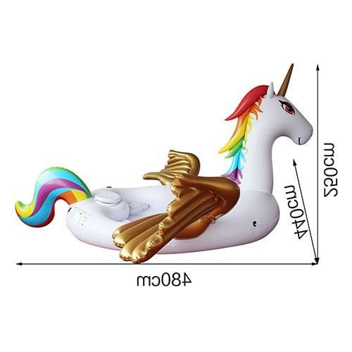 Dimensions Bouée géante licorne