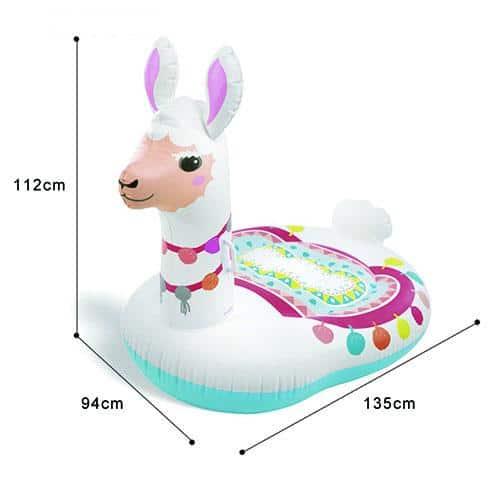 Dimensions bouée gonflable lama géant