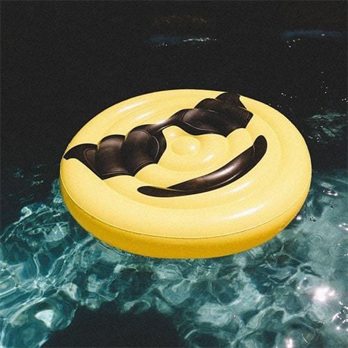 Emoji smiley lunette gonflable