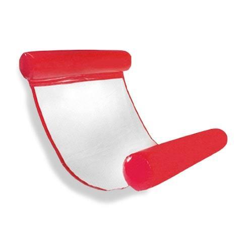 Hamac rouge gonflable pour piscine et plage