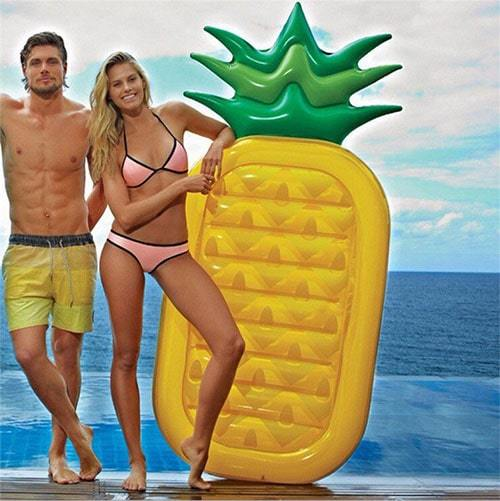 Matelas gonflable ananas bouée gonflable