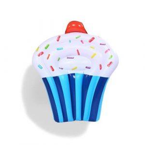 Matelas gonflable cupcake bleu