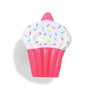 Matelas gonflable cupcake rose