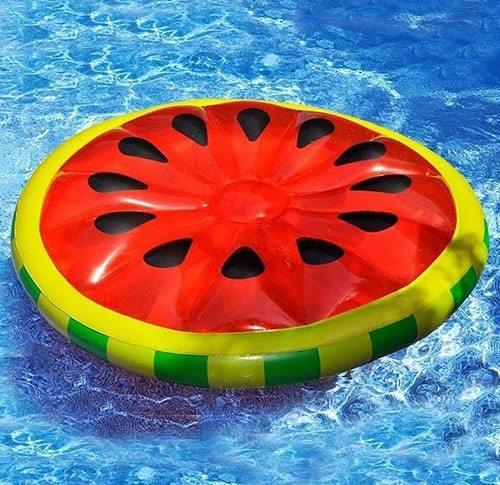Matelas gonflable rond pastèque piscine