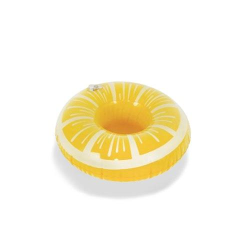 Porte gobelet gonflable citron