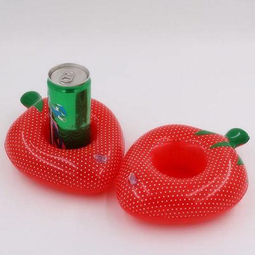 porte gobelet gonflable fraise