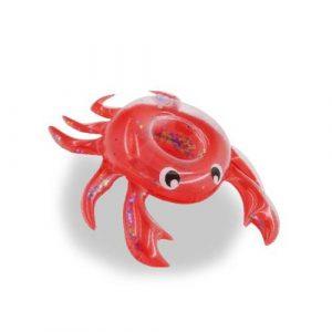 porte verre gonflable crabe rouge paillette