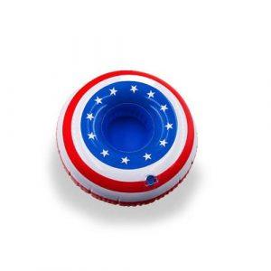 Bouée porte verre gonflable Amérique pour piscine
