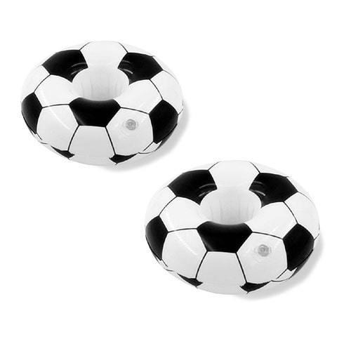 Porte verre gonflable ballon de foot 2 pièces