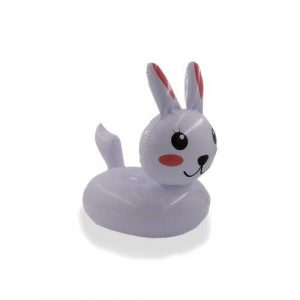Porte verre gonflable lapin