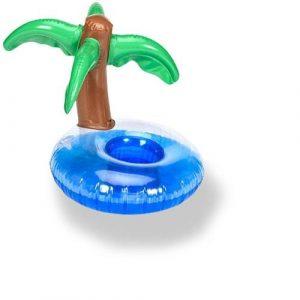 porte verre gonflable palmier pour piscine