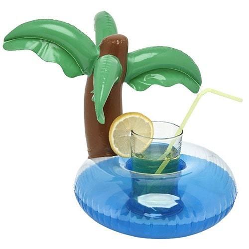 porte gobelet gonflable palmier
