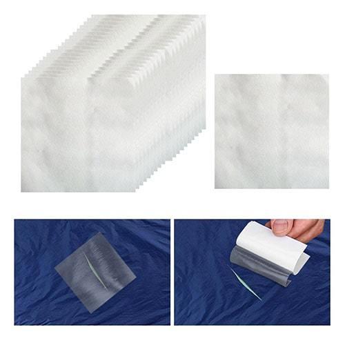 Réparation de fissure avec rustine transparente