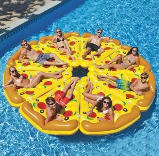 Ronde de matelas gonflable pizza
