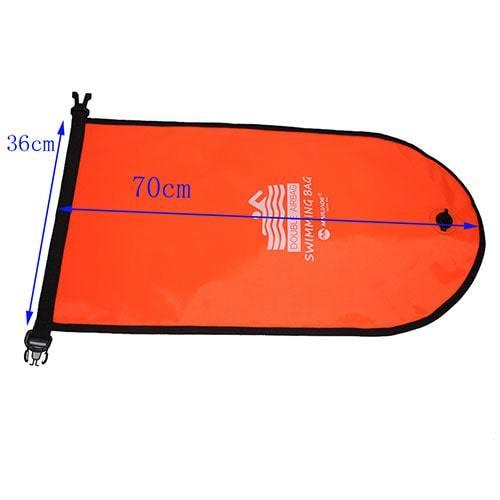 Sac flottant de natation orange