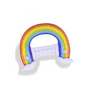 Siège gonflable arc-en-ciel