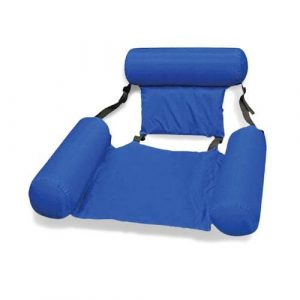 siège hamac gonflable bleu pliable