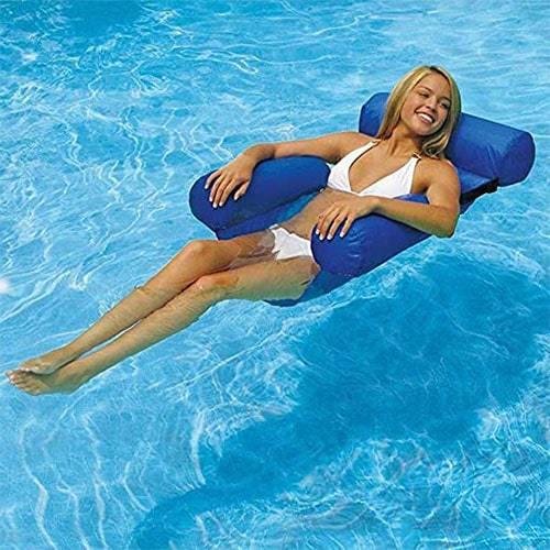Siège hamac gonflable pliable pour piscine ou plage