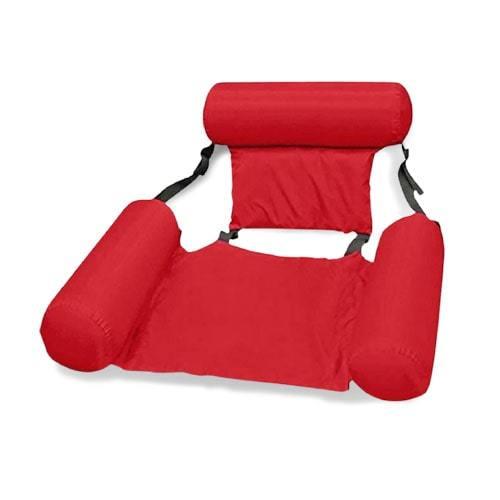 Siège hamac gonflable rouge piscine
