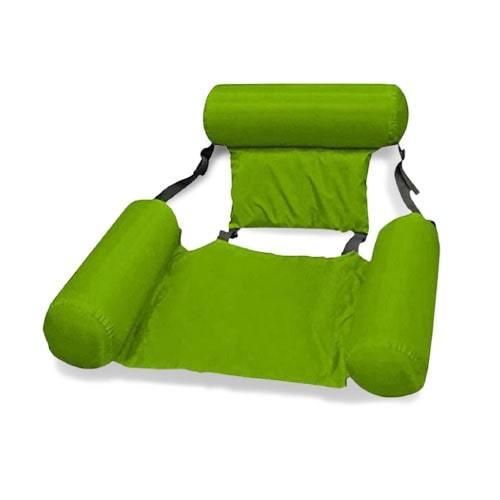 siège hamac gonflable détente vert
